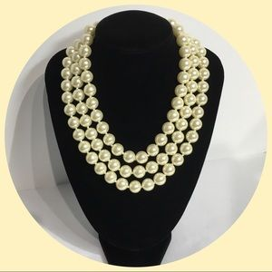 Multiple Strand Pearl Necklace